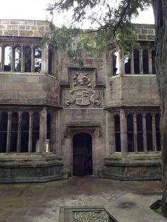 Another view of the courtyard at Skipton castle, this one with a ghost in the window. The Iron King, North Yorkshire, Some Pictures, Castle, Window, Mansions, House Styles, Manor Houses, Windows