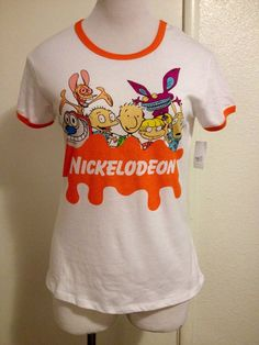 RARE! NWT Womens Juniors 90's Nickelodeon Shirt Large #Nickelodeon #GraphicTee
