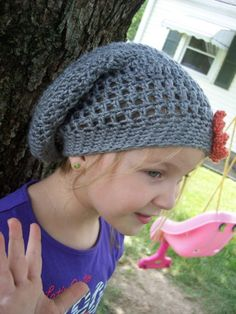 Crochet Slouchy Hat ~ Free Pattern
