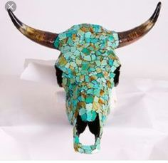 Mosaic steer head