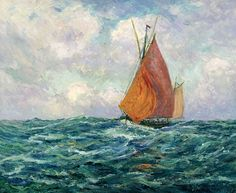 "maufra maxime fishing boat at the sea 1907 sotheby (from <a href=""http://www.oldpainters.org/picture.php?/30156/category/13215""></a>)"