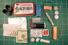 Urban Survival Kit City dwellers have a different set of needs from those heading out into the wilderness. The Urban Survival Kit includes items for problems more annoying than life threatening. Obviously, you can exercise your creativity here in filling the tin with things you personally need to survive the urban jungle.