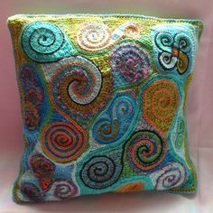 Anke's Freeform Pillowcover 2 Finished by hykevandermeer, via Flickr