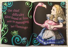#Alice'a Adventures in Wonderland  #prismacolor premier #flamingo
