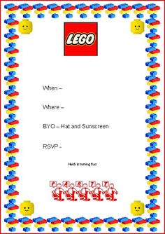 Lego Party Invite #LegoDuploParty