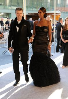 """""""Iman & Hubby David Bowie Celebrate 20 years of marriage! ;) """" Awesome couple,congrats and bless you…♥ ♥…   Blackwomenforwhitemen.org~~~where we specialize in interracial dating services.It's OK to color outside the lines.Hope you will like it."""