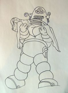 Lost in space robot embroidery pattern