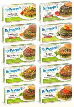 Dr. Praeger's Veggie Burgers - 9 Flavorful Varieties (all dairy-free, select are vegan + gluten-free)
