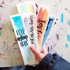 cute watercolor bookmarks