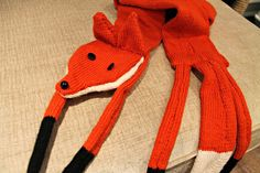We LOVE this foxy entry to our competition, made by Lisahh-Jayne! She's been using our Cygnet Chunky Yarn in Orange! #knitting