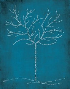 """At the bottom """"Like branches on a tree, we grow in different directions, yet our roots remain as one. Each of us will always be a part of the other"""". LOVE THIS!"""