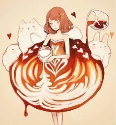 「caffè latte dress.」/「tofuvi」のイラスト [pixiv]