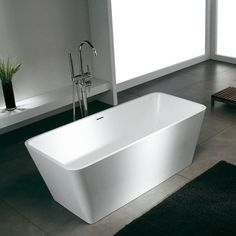 Bañera Solid Surface MUNICH 150 cm http://www.entornobano.com/collections/baneras-solid-surface/products/banera-solid-surface-munich-150-cm