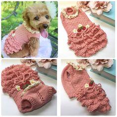 Animal Sweater, Knit Dog Sweater, Cat Sweaters, Crochet Dog Sweater Free Pattern, Crochet Dog Patterns, Crochet Dog Clothes, Pet Clothes, Pet Fashion, Animal Fashion