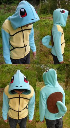 Pokemon Squirtle Cosplay Hoodie, would be a really simple Halloween costume.
