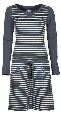 Zendee sportief gestreepte tricot jurk