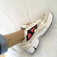 Sock to shoe game very immaculate Ralph & Raf. #rafsimons #Ozweego #ozweego2…