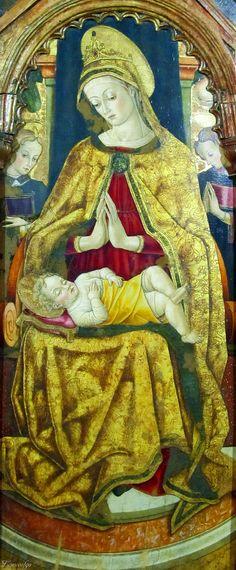 Vittore Crivelli - Madonna in trono (pentittico) - Capodarco di Fermo, chiesa di Santa Maria