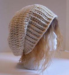 Crochet Slouch Hat. Free Crochet Pattern