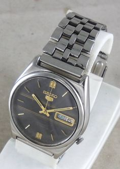 Original VINTAGE SEIKO 5 Automatic 17J Japan 7009-2071 Running Watch D&D@3#w1844 #Seiko