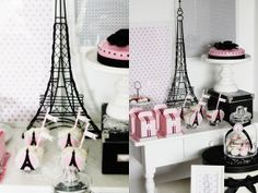 Paris In The Snow, Winter Birthday Party - Kara's Party Ideas - The Place for All Things Party