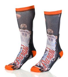 FOR BARE FEET Kevin Durant Oklahoma City Thunder crew sock Stretch fabric for ultimate comfort Moisture resistant Padded heel for performance