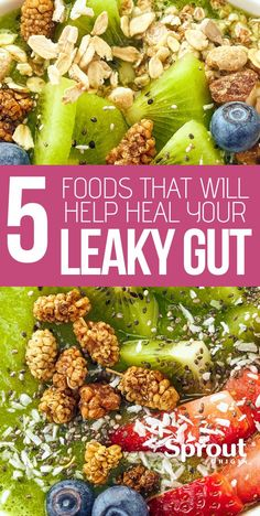 Leaky gut harms your digestive health and may be linked to several chronic and autoimmune diseases. Here are 5 foods to eat to heal your leaky gut. digestive health 5 Foods That Will Help Heal Your Leaky Gut Health Diet, Health And Nutrition, Nutrition Chart, Nutrition Guide, Foods For Gut Health, Nutrition Pyramid, Health Care, Fruit Nutrition, Improve Gut Health