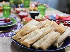 Get Red Chile Chicken Tamales Recipe from Food Network