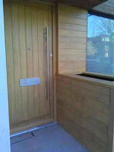 Bespoke @Accoya front entrance doorset supplied and fitted by us #joinery #bizitalk