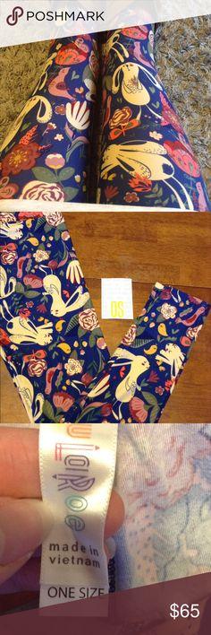 867d14501deef4 LuLaRoe OS leggings bunnies flowers birds! NWT! Brand new LuLaRoe OS  leggings bunnies rabbits