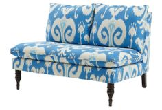 Bacall Armless Settee, Powder Blue | The Breakfast Nook | One Kings Lane