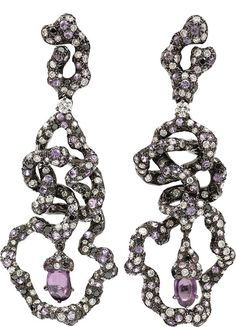ARUNASHI Pink Sapphire Free Form Earrings $29,900.00 thestylecure.com