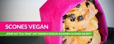 Scones vegan Rezept Koks und Rosinen