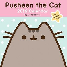 Pusheen the Cat 2016 Wall Calendar - Claire Belton - Primary Image Cat Calendar, 2016 Calendar, Calendars 2016, Budapest, Pusheen Stickers, Female Cartoon, Pusheen Cat, Famous Cartoons, Cat Wall