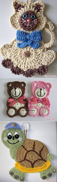 Knitting for children - Crochet Quilling Ideas Chat Crochet, Crochet Teddy, Love Crochet, Easy Crochet, Crochet Flowers, Crochet Crafts, Yarn Crafts, Crochet Toys, Crochet Projects