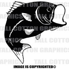 BIG MOUTH BASS Fish Vinyl Decal - #SL030