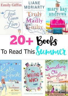 I'm sharing a list of 20 Books to add to your Must-Read list this Summer! I've compiled a list of recent chick lit novels by some of my favorite authors.