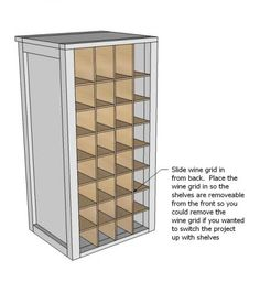 DIY - Plans for entry way shoe storage (need to modify from wine grid to shoe storage)