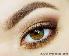 natalia-lily: Beauty Blog: Makijaż oka: Brąz ze starym złotem krok po kroku