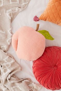 Shop Fuzzy Peach Pillow at Urban Outfitters today. Peach Bedding, Cute Bedding, Linen Bedding, Bed Linens, Gray Comforter, Comforter Sets, Peach Rooms, Peach Decor, Urban Outfitters