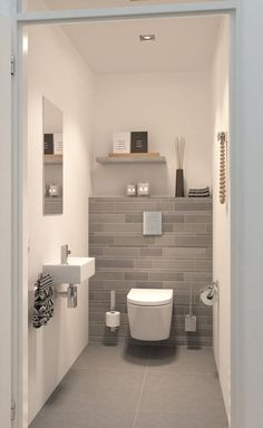 Space Saving Toilet Design for Small Bathroom is part of Luxury bathroom tiles In the event that you are one of the a huge number of individuals around the globe who needs to bear the claustrophobia - Small Downstairs Toilet, Small Toilet Room, Downstairs Bathroom, Master Bathroom, Guest Toilet, Cloakroom Toilet Small, Clockroom Toilet, Small Toilet Decor, Cloakroom Ideas