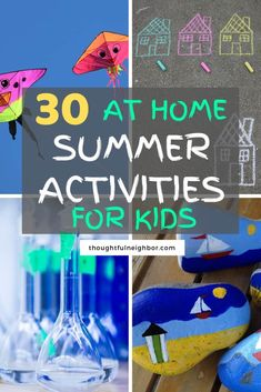 Easy  fun summer activities for kids. Summer vacation entertainment tips that include free and cheap things to do over summer break. Indoor and outdoor activities for children from toddlers and preschoolers up to preteens and teens. Includes educational ideas you can do at home. Add these ideas to your kids summer bucket list. #summerfun #summervacation #kidsactivity #summerbucketlist #summerbreak
