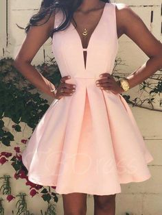 Pretty in blush pink or choose this A-line dress in either, ivory, white, light blue, or another pastel! Whichever color you pick, this dress makes a stunning rehearsal dinner piece.