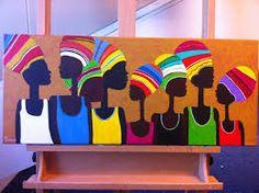 Afbeeldingsresultaat voor schilderijen afrika