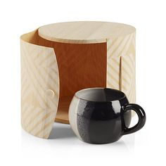 Striped Birch Gift Box   Crate and Barrel