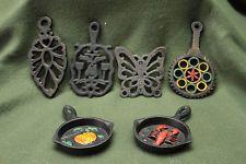 6 Vintage Cast Iron Spoon Rest