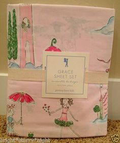 Pottery Barn Kids Grace Twin Sheet Set New Princess Fairy Tale Pink Castle Gift | eBay