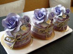 Violet Rose Mini Cakes by Sliceofcake.deviantart.com