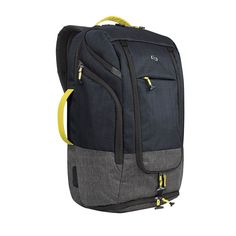 Solo Everyday Max Backpack Duffel For Laptops, Navy/Yellow/Gray Best Travel Backpack, Laptop Backpack, Black Backpack, Backpack Bags, Sling Backpack, Travel Bags, Men's Backpacks, Outdoor Backpacks, School Backpacks