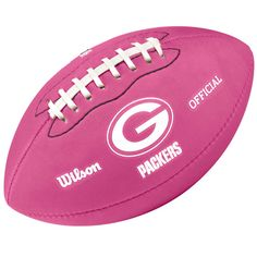 green bay packers pink | Green Bay Packers Bright Pink Mini Football at the Packers Pro Shop